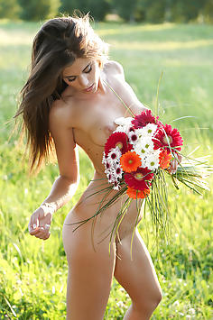 Little Caprice in Flower power Nude Gallery