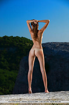 Elle Tan Posing Naked in the Mountains - Met Art Nude Gallery