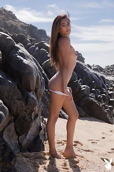 Gorgeous Katherinne Sofia in a Private Beach - Playboy M