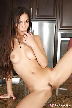 Beautiful Milana May Gets Nasty in the Kitchen - Baberotica Nude Gallery