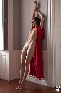 Sensual Ilvy Kokomo in Red Silk - Playboy Plus Nude Gallery